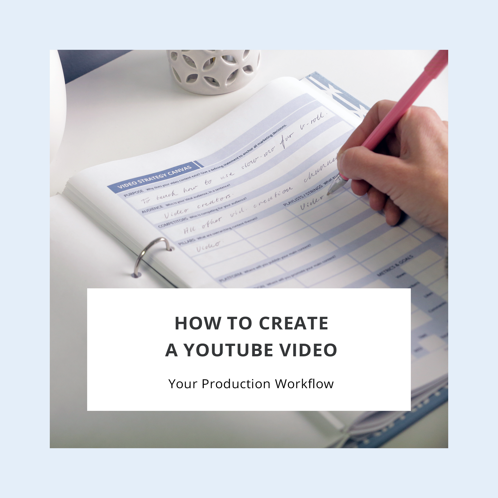 How to Create a YouTube Video – your Production Workflow